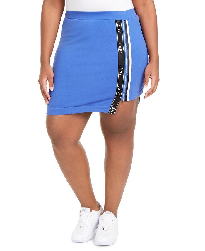 Lala Anthony - Trendy Plus Size High-Low Active Mini Skort