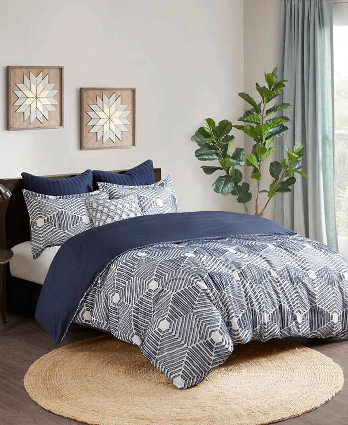 INK+IVY - INK+IVY Ellipse 3-Piece Full/Queen Cotton Jacquard Comforter Set