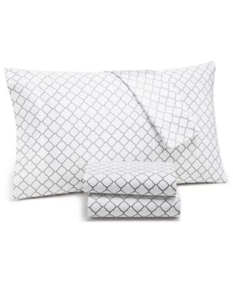 Arabesque Geo 4-Pc. Queen Extra Deep Sheet Set, 550-Thread Count Supima Cotton Created for Macy's