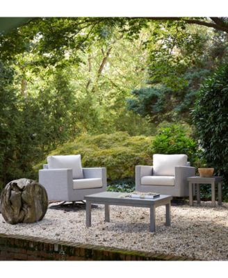 Carleese Outdoor 3-Pc. Seating Set (2 Swivel Chairs & End Table) with Sunbrella® Cushions