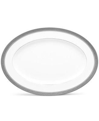 "Summit Platinum Oval Platter, 16"""