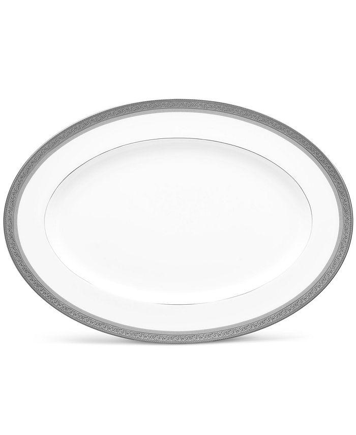 "Noritake - Summit Platinum Oval Platter, 16"""