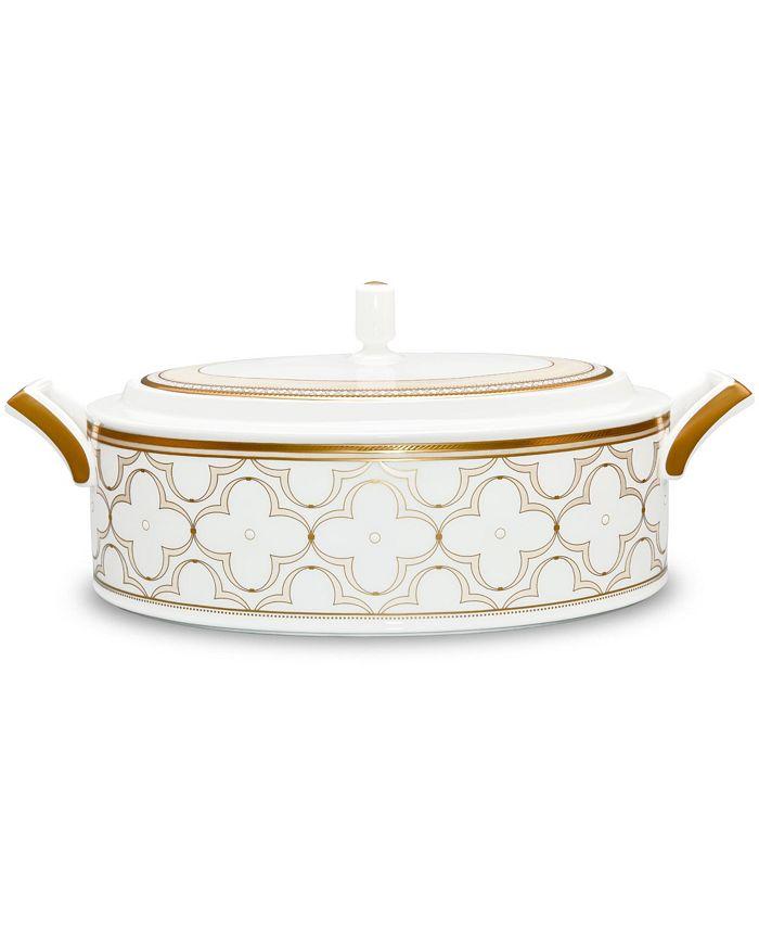 Noritake - Trefolio Gold Covered Vegetable Bowl, 67 Oz.
