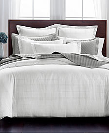 CLOSEOUT! Charter Club Damask Windowpane 3-Pc. King Duvet Set, 550-Thread Count Supima Cotton, Created for Macy's