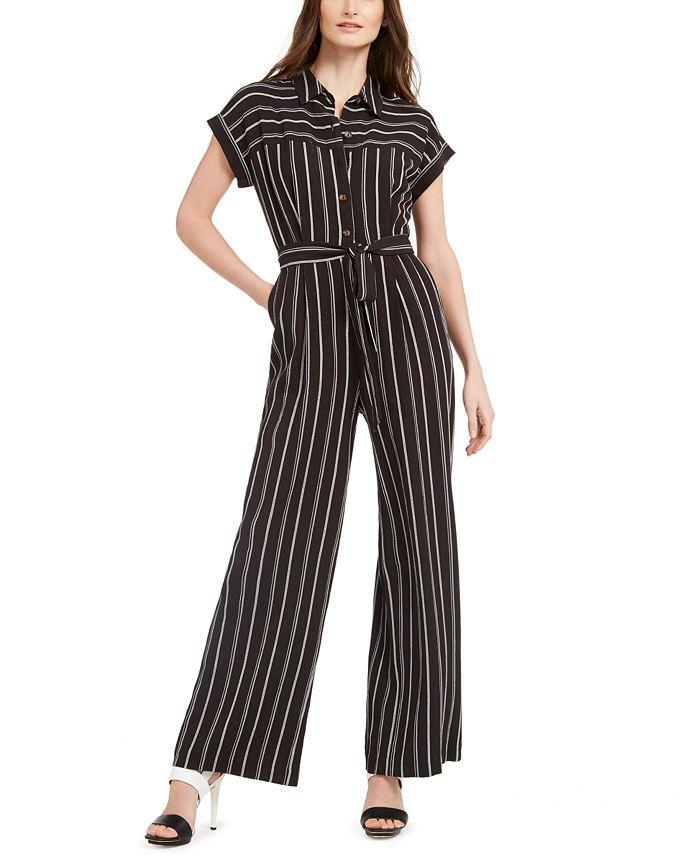 Calvin Klein - Striped Jumpsuit