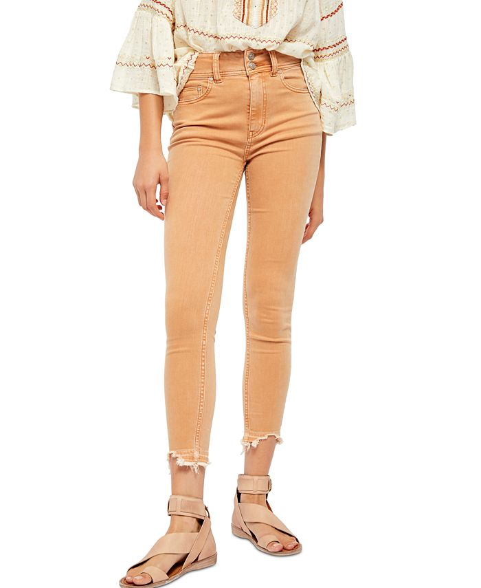 Free People - Wild Child Raw-Hem Skinny Jeans