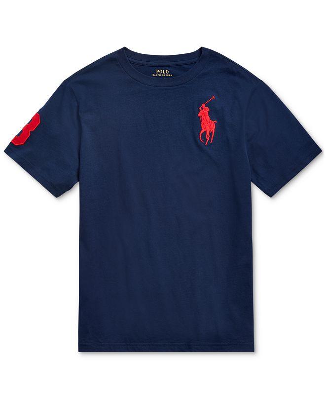 Polo Ralph Lauren Big Boys Big Pony Cotton Jersey T-Shirt