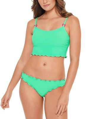 Juniors' Ruffled Bikini Top, Available in D/DD, Created for Macy's
