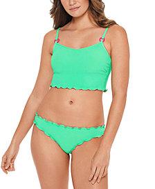 Salt + Cove Juniors' Pucker Up Bikini Top & Ruffled Bottoms, Created for Macy's