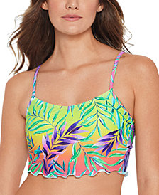Salt + Cove Juniors' Tropical Punch Printed Underwire Bikini Top, Available in D/DD, Created for Macy's