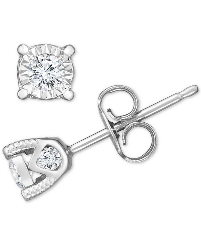 TruMiracle - ® Diamond Stud Earrings (3/8 ct. t.w.) in 14k White Gold, Rose Gold, or Yellow Gold