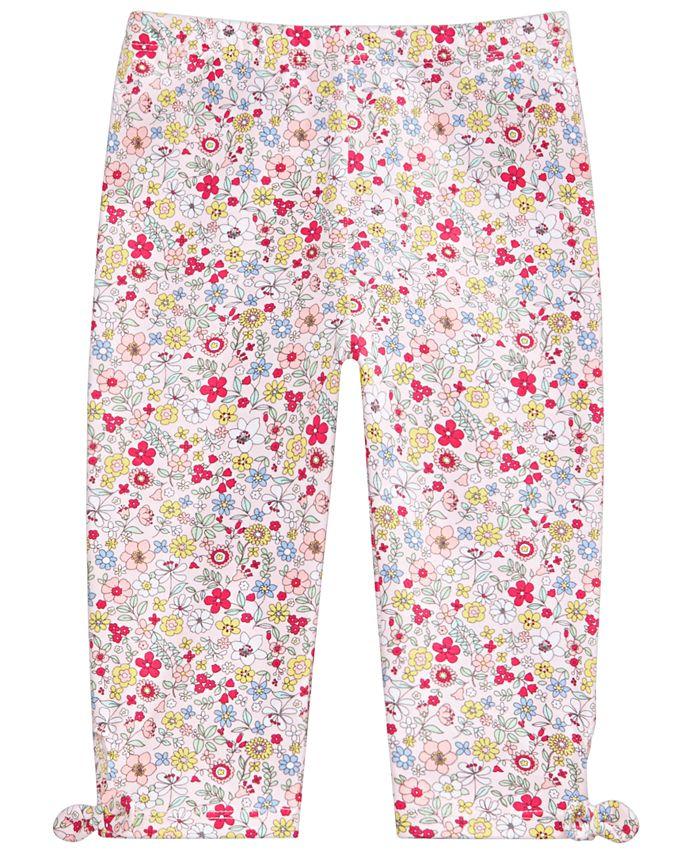 First Impressions - Baby Girls Floral-Print Keyhole Capri Pants
