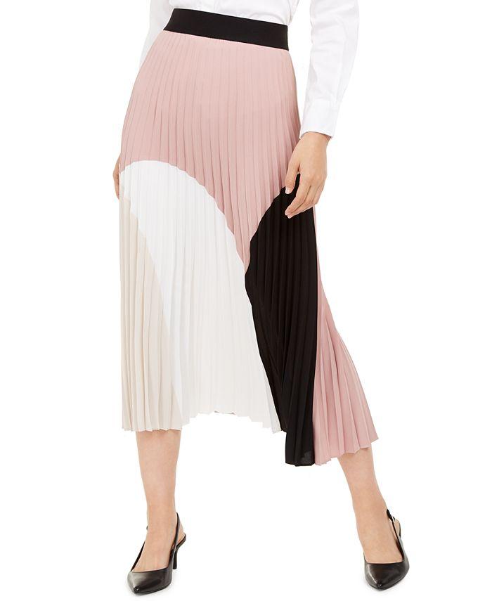 Alfani - Pleated Colorblocked Dress, Created for Macy's