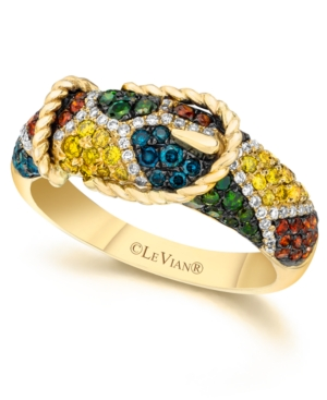Le Vian Mixberry Diamond Buckle Ring (7/8 ct. t.w.) in 14k Gold