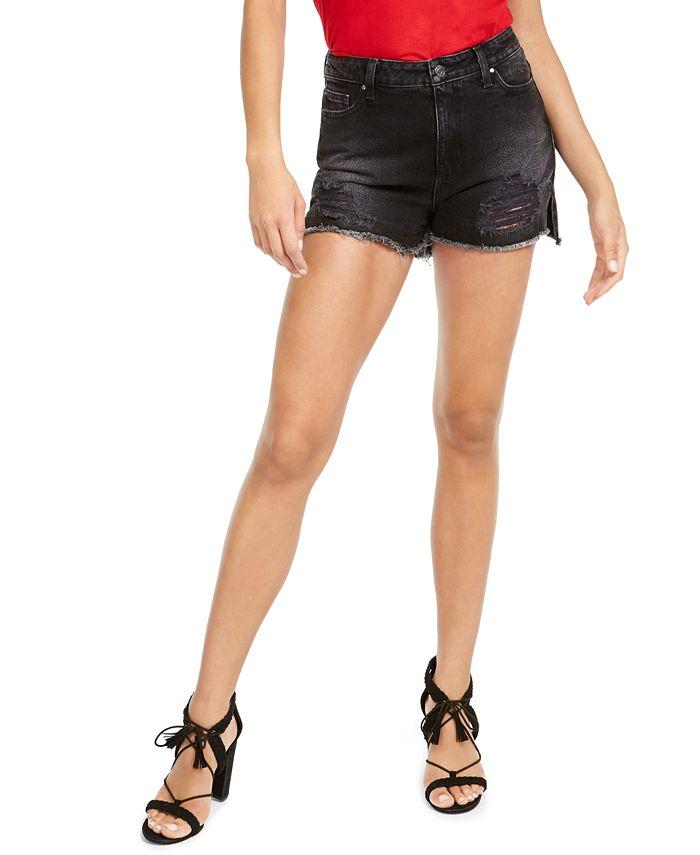 GUESS - Claudia Distressed Denim Shorts