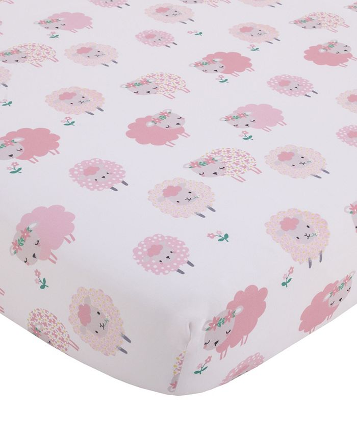 NoJo - NoJo Farm Chic Little Lambs Fitted Crib Sheet