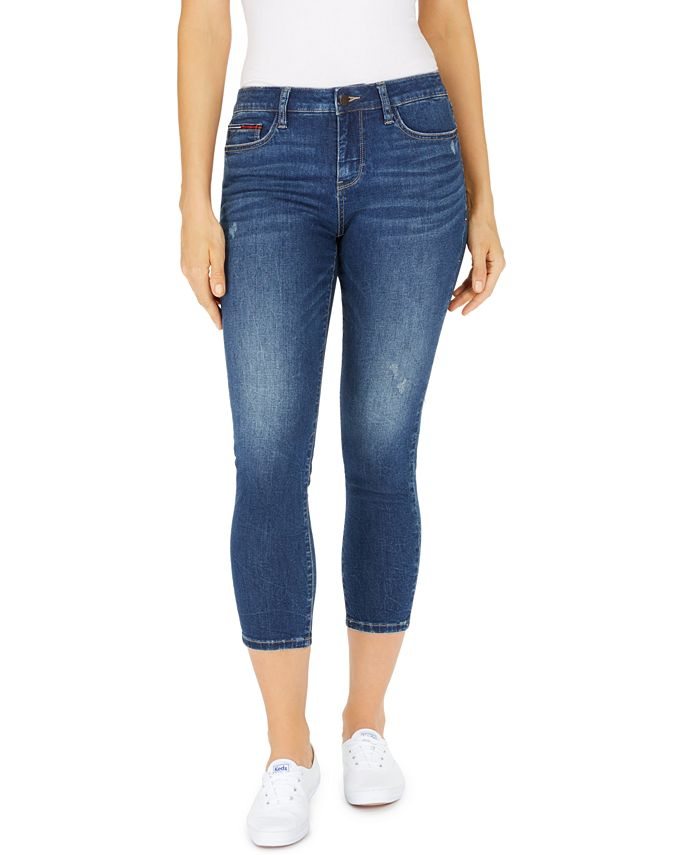 Tommy Jeans - Juniors' Cropped Skinny Jeans