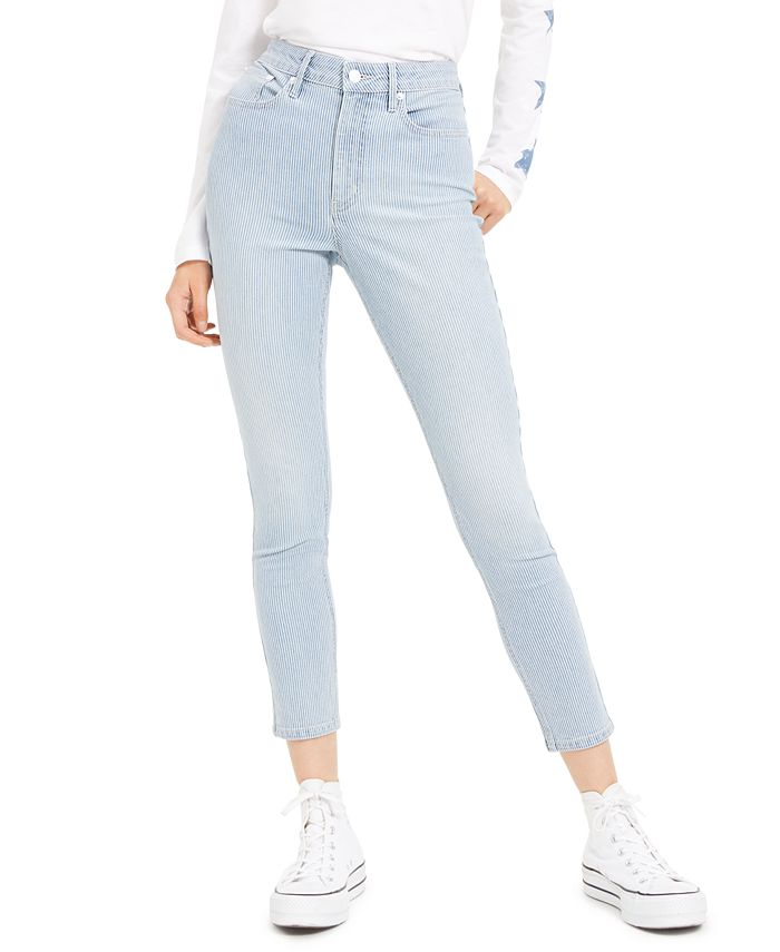 Calvin Klein Jeans - High-Rise Striped Skinny Jeans