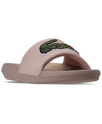 lacoste women's slide sandals