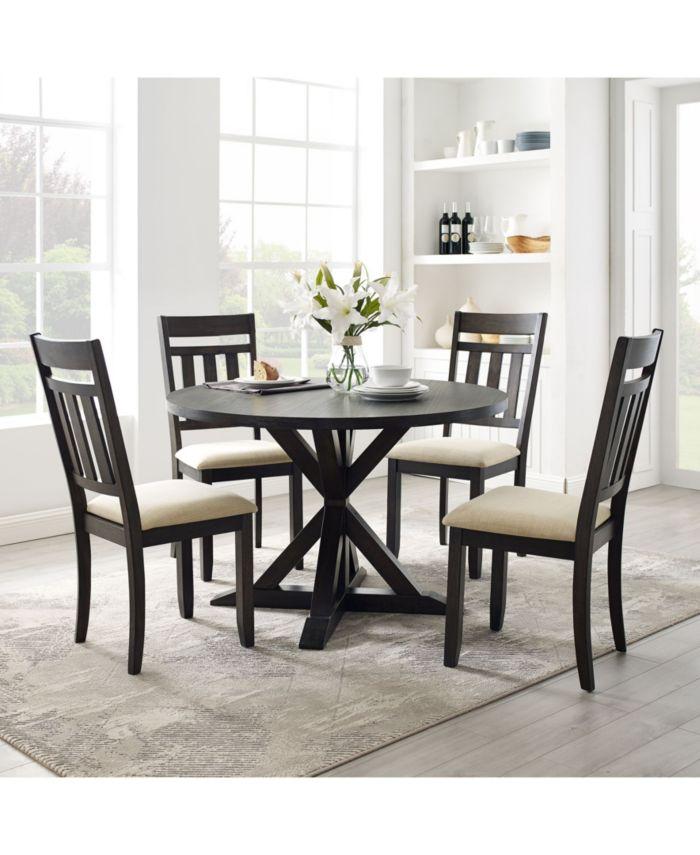 Crosley Hayden 5 Piece Round Dining Set & Reviews - Furniture - Macy's