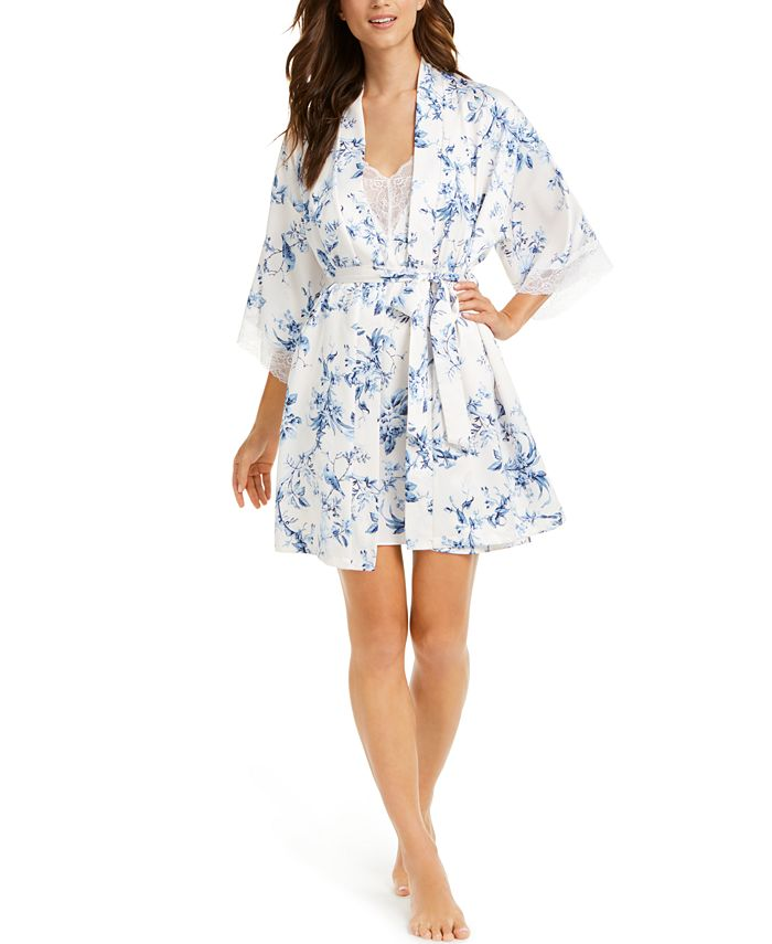 Linea Donatella - Aviary Floral-Print Wrap Robe