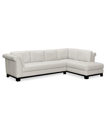 Elena leather 2 piece sectional sofa sofa chaise for Elena leather 2 piece sectional sofa sofa chaise