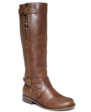 G by GUESS Womens Hertlez Tall Shaft Wide Calf Riding Boots Womens Shoes