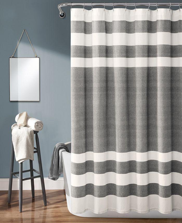 "Lush Décor - Cape Cod Stripe Yarn Dyed Cotton 72"" x 72"" Shower Curtain"