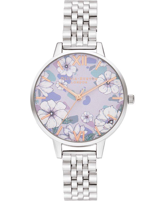 Olivia Burton - Women's Groovy Blooms Stainless Steel Bracelet Watch 34mm