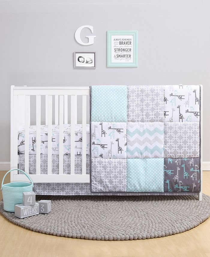 The Peanutshell Ps By Addison 3 Piece Crib Bedding Set Reviews Bedding Collections Bed Bath Macy S