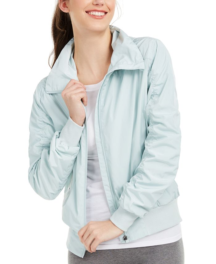 Ideology - Ruched-Sleeve Hooded Jacket