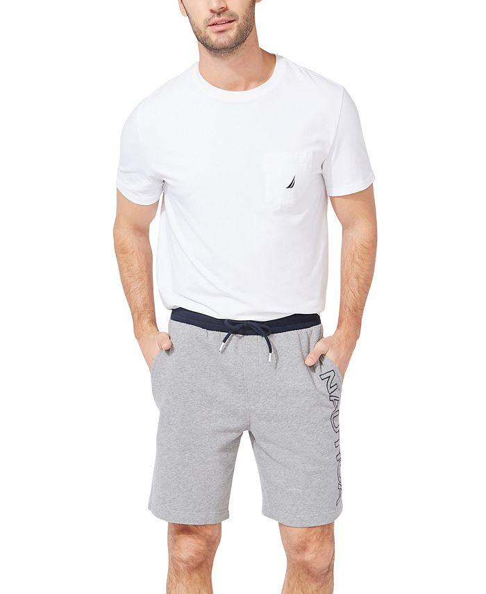 Nautica - Men's Fleece Knit Logo Shorts