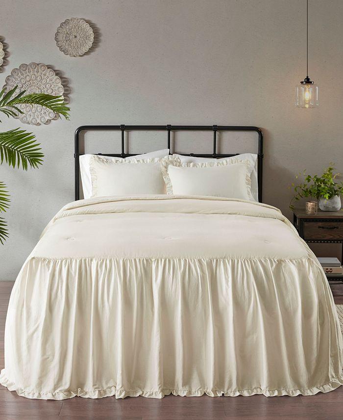 Madison Park - Juliet 3 Piece King Cotton Ruffle Skirt Bedspread Set