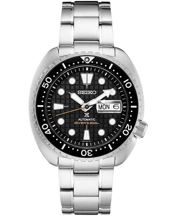 Seiko Men's Automatic Prospex King Turtle Stainless Steel Bracelet Watch 45mm