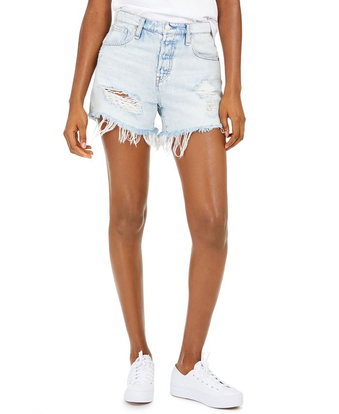 Hudson Jeans - Jade Ripped Cotton Boyfriend Shorts