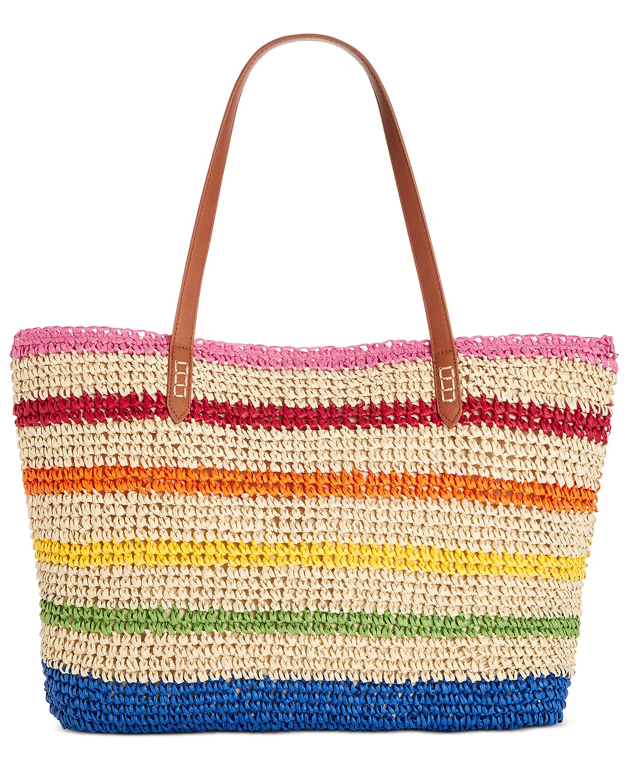 INC International Concepts Tropical Straw Tote