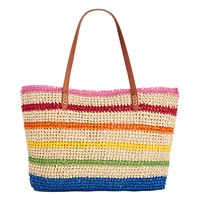 Deals on International Concepts INC Tropical Straw Tote