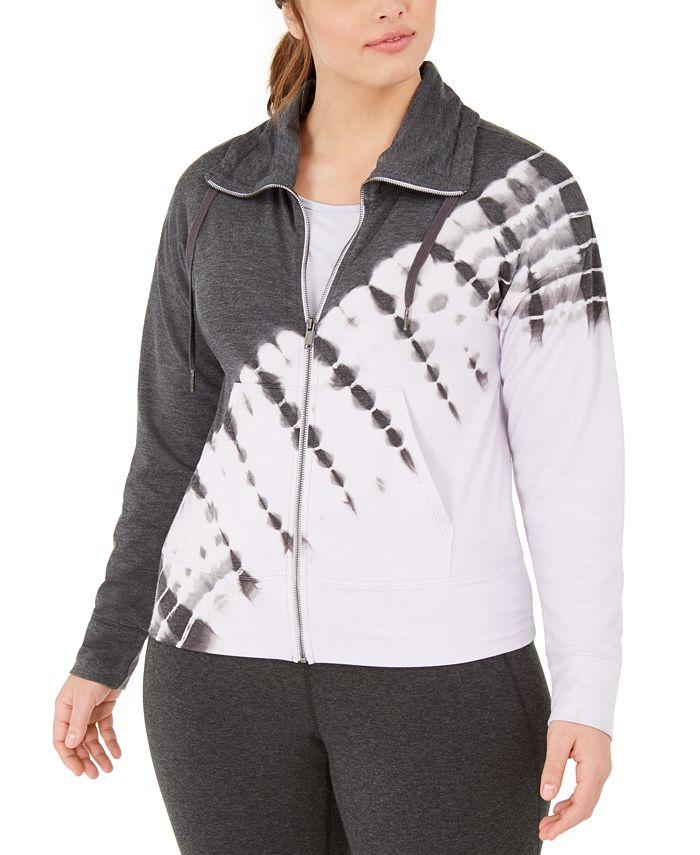 Ideology - Plus Size Printed Zip-Front Jacket