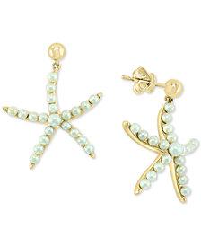 EFFY® Cultured Freshwater Pearl (2 & 3mm) Starfish Drop Earrings in 14k Gold