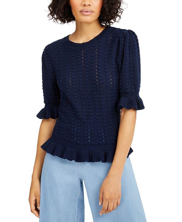 INC International Concepts - Popcorn-Stitch Pullover Sweater