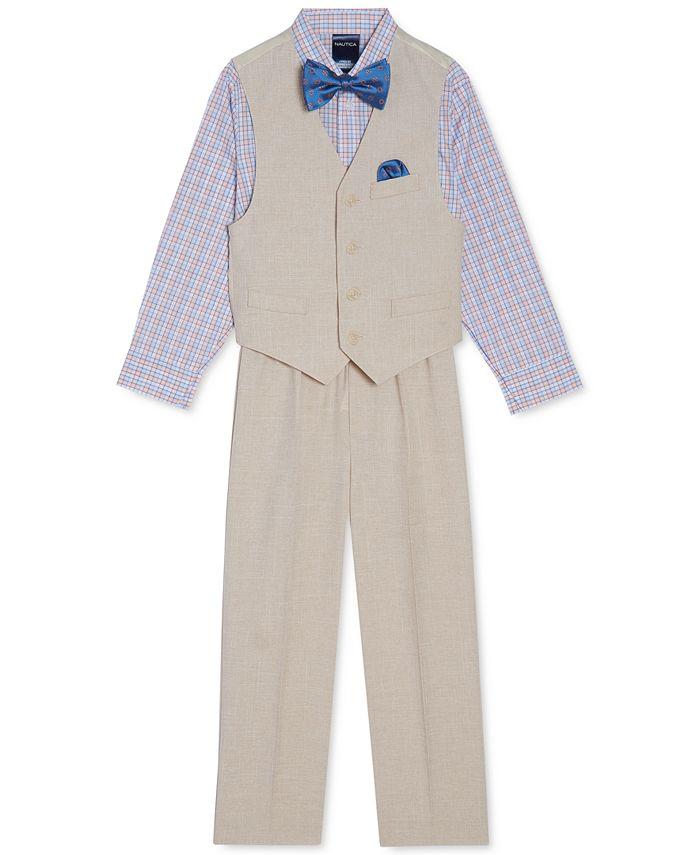 Nautica - Little Boys 4-Pc. Textured Vest Set