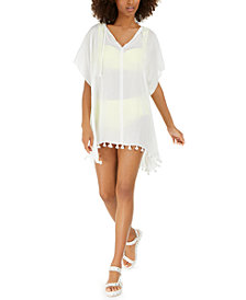 DKNY Pom Pom Caftan Swim Cover-Up