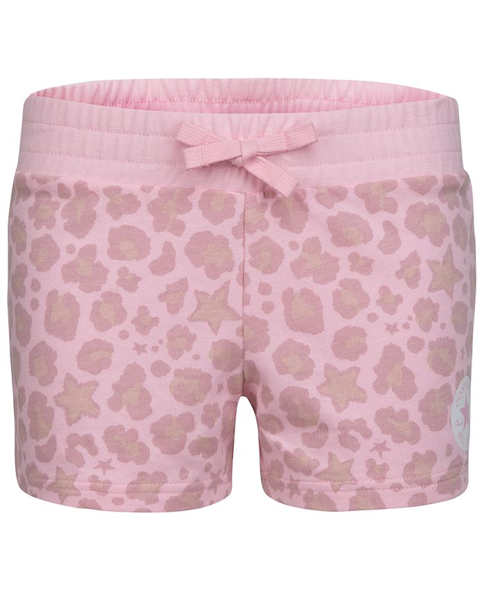 Converse - Big Girls French Terry Leopard Shorts