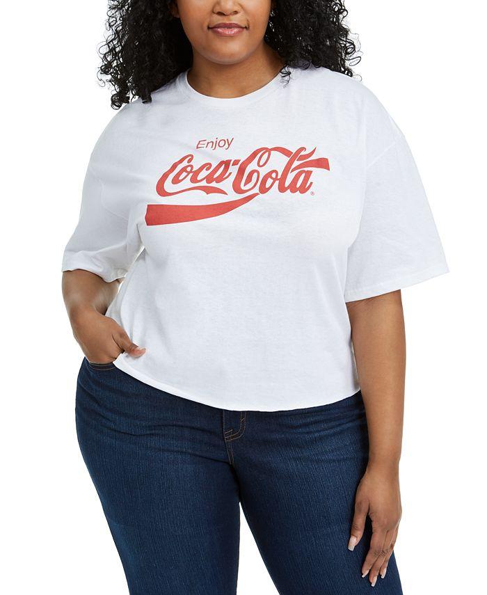 Mighty Fine - Trendy Plus Size Cotton Coca-Cola T-Shirt