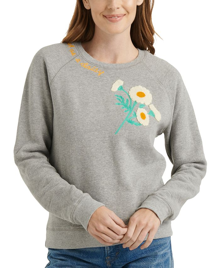 Lucky Brand - Embroidered Daisy Sweatshirt