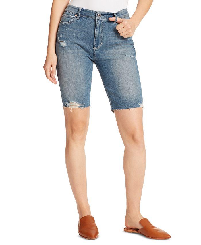Ella Moss - Denim Ripped Bermuda Shorts