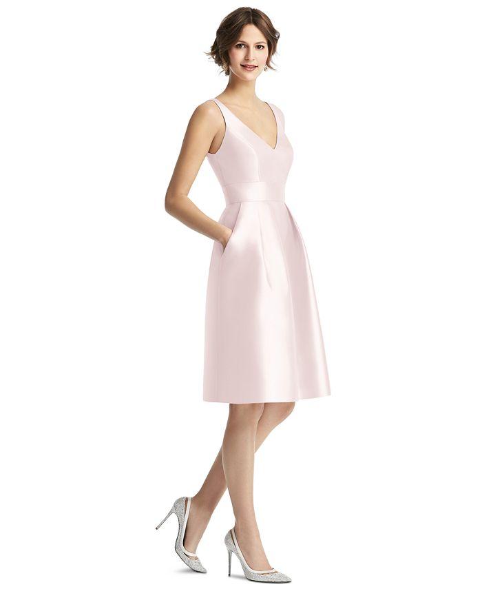 Alfred Sung - V-Neck Fit & Flare Dress