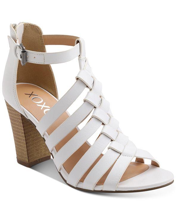 XOXO Baxter Strappy Block-Heel Sandals