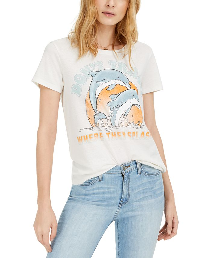 Hybrid - Juniors' Don't Trash Splash Graphic T-Shirt