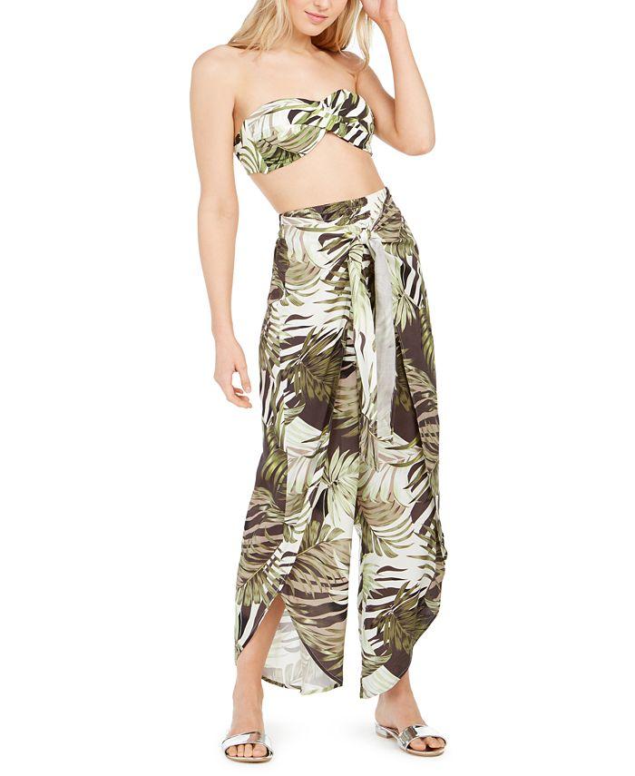 Bar III - Jungle Moon Printed Tulip-Hem Pants